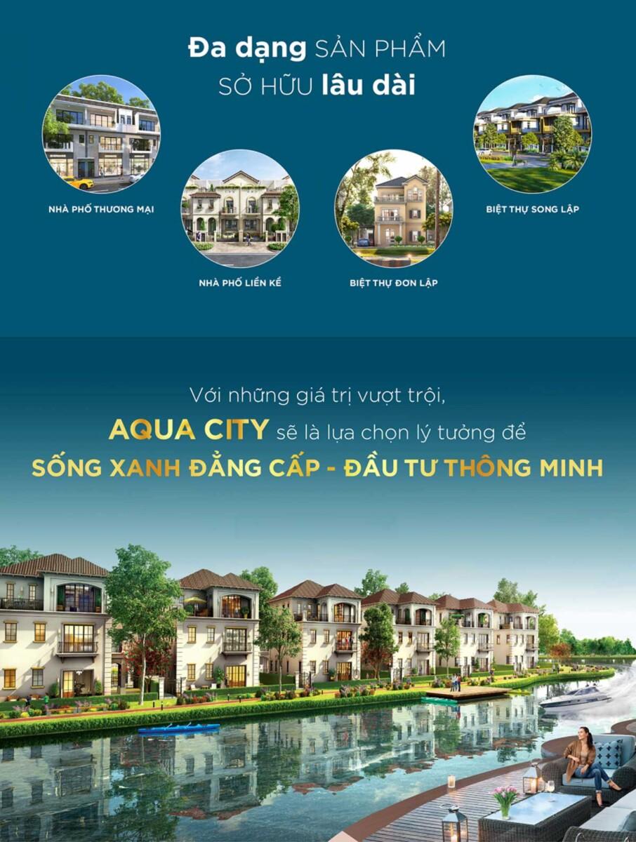 Aqua city quy hoạch đa dạng sản phẩm