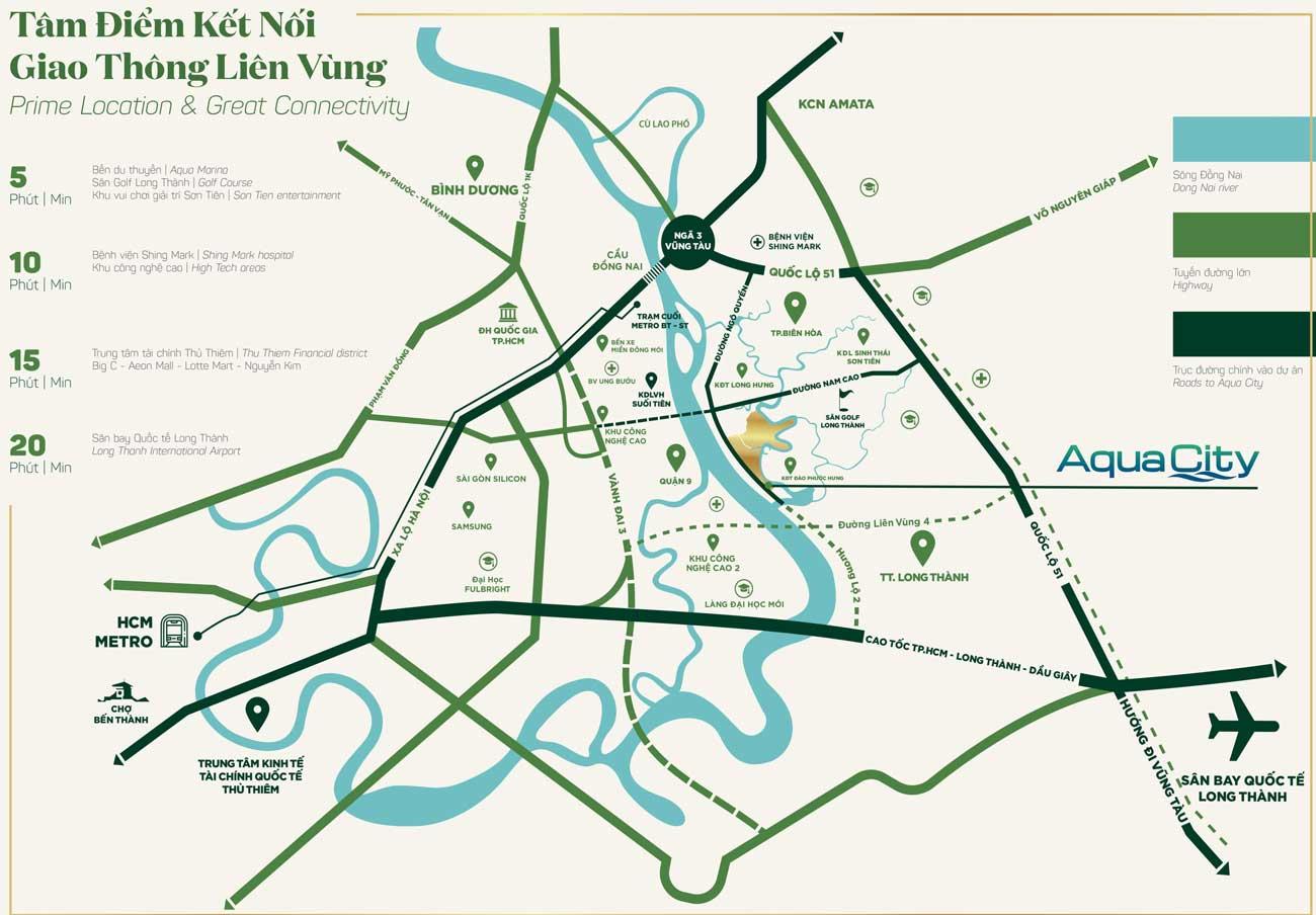 Vị trí tọa lạc đắc đại DỰ ÁN AQUA CITY NOVALAND ĐỒNG NAI