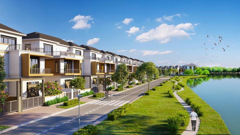 Không gian sống xanh hiện hữu tại dự án Aqua City