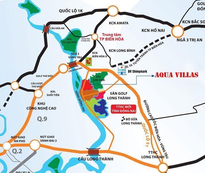Khả năng liên kết vùng thuận tiện đem lại tiềm năng tăng giá trong tương lai của dự án Aqua City