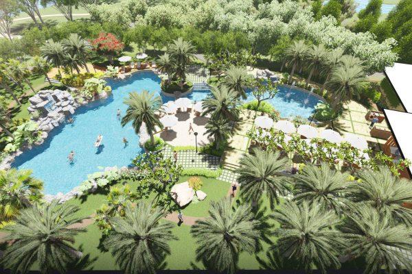 Bể bơi hiện đại ngay nội khu dự án