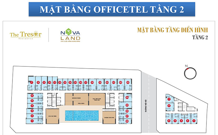 MB OFFICETEL TẦNG 2
