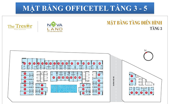 MB OFFICETEL TẦNG 3 -5