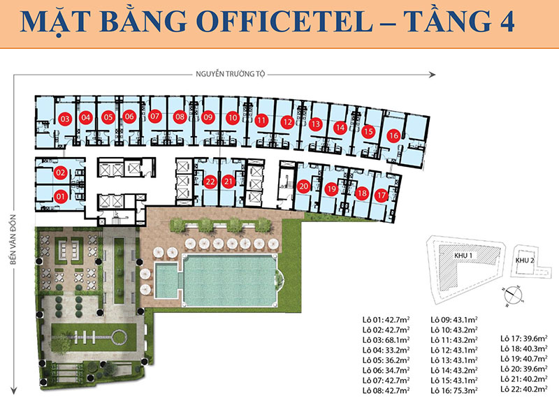 MB OFFICETEL TẦNG 4