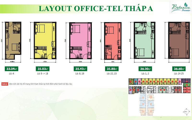 LAYOUT OFFICETEL THÁP A