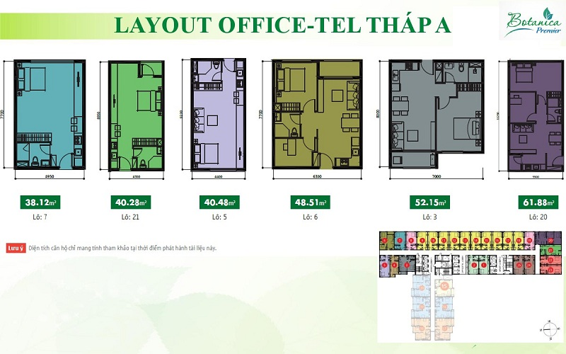 LAYOUT OFFICETEL THÁP A -1