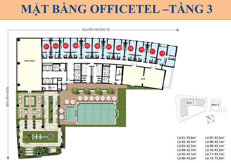MB OFFICETEL TẦNG 3