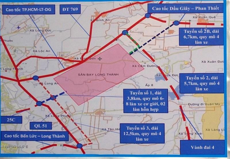 Vị trí địa lý sân bay Long Thành