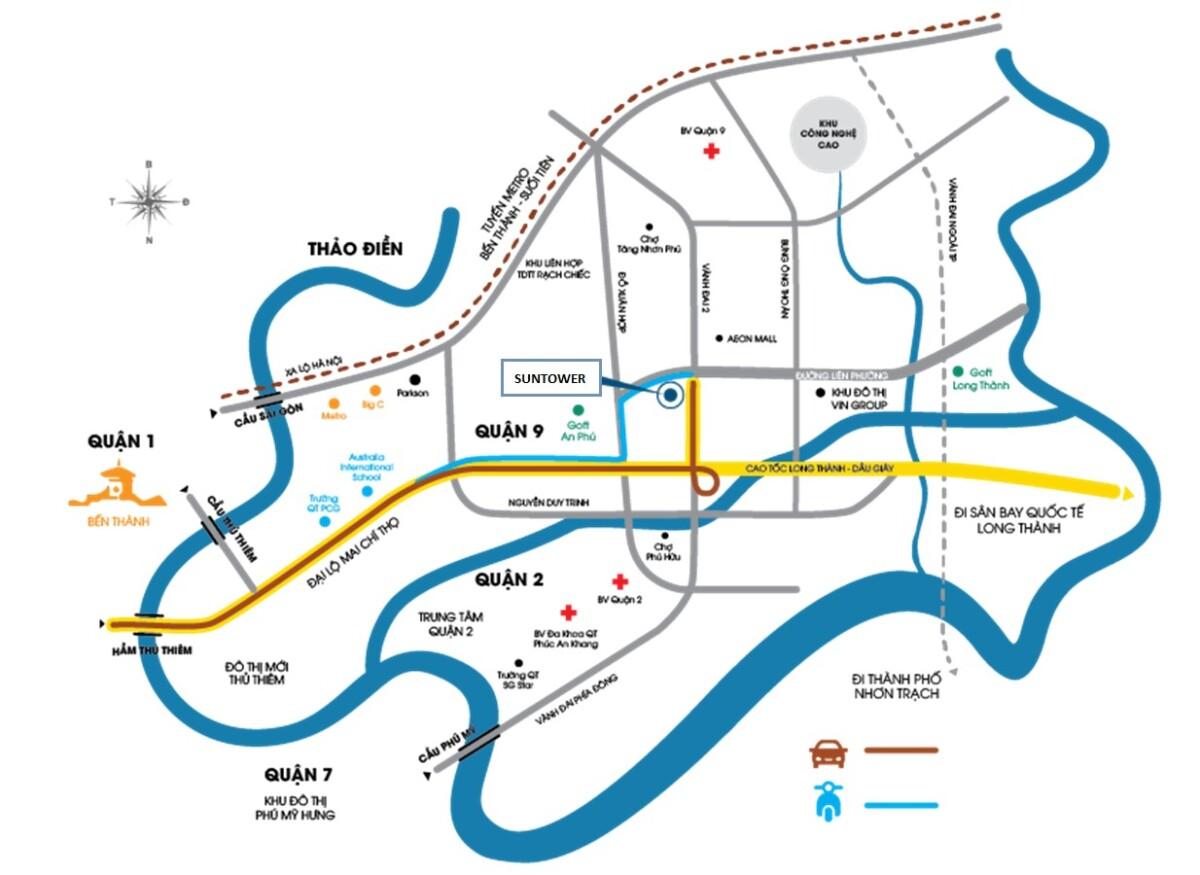 Các dự án xung quanh hầm Thủ Thiêm