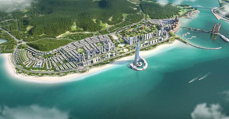 Tòa tháp Domino  - Một phần của dự án Công viên Đại Dương