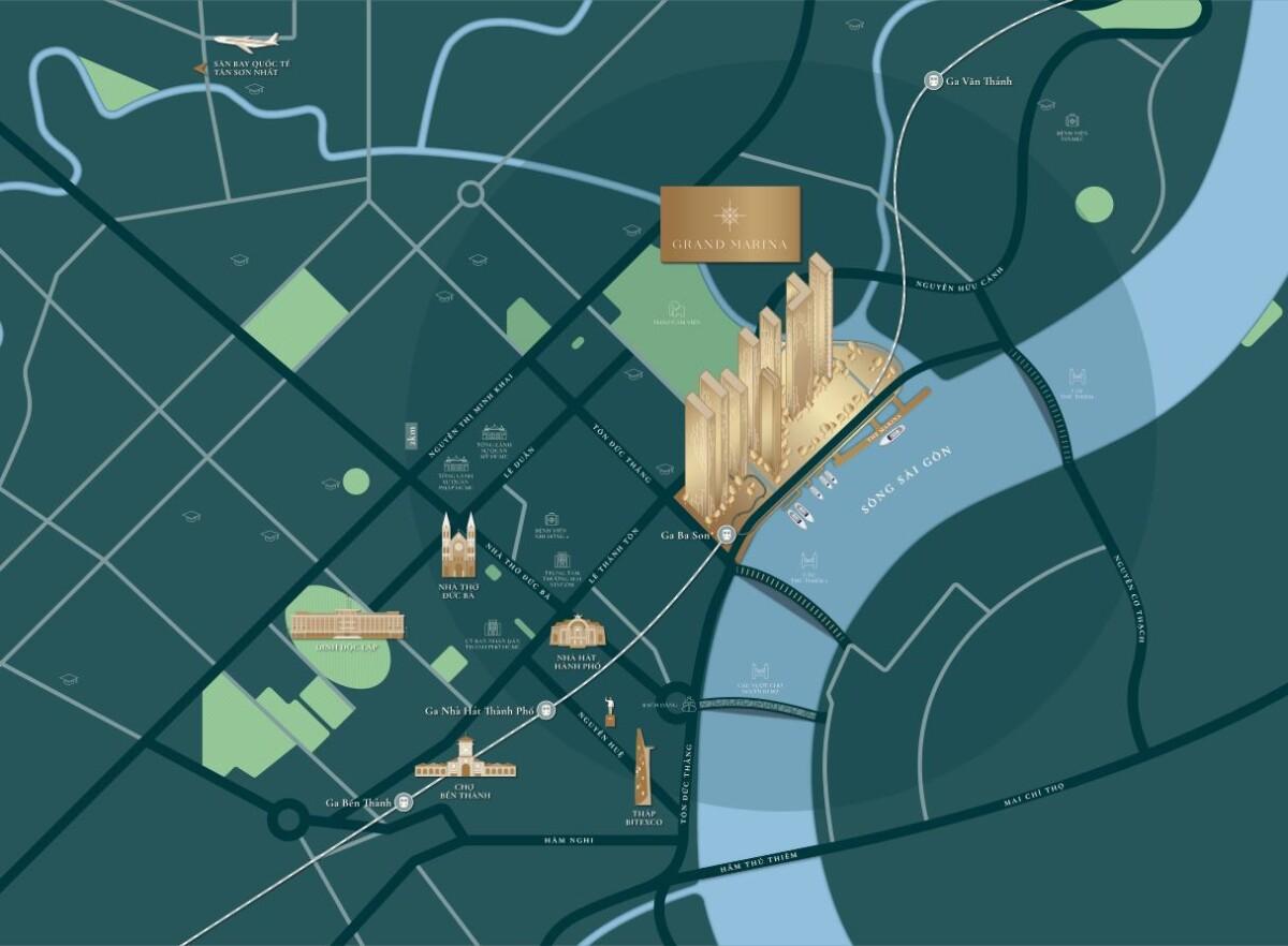 Bản đồ Vị trí Dự án The Sun Tower Capitaland Quận 1