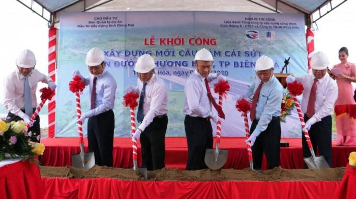 Lễ khởi công xây dựng cầu Vàm Cái Sứt Biên Hòa