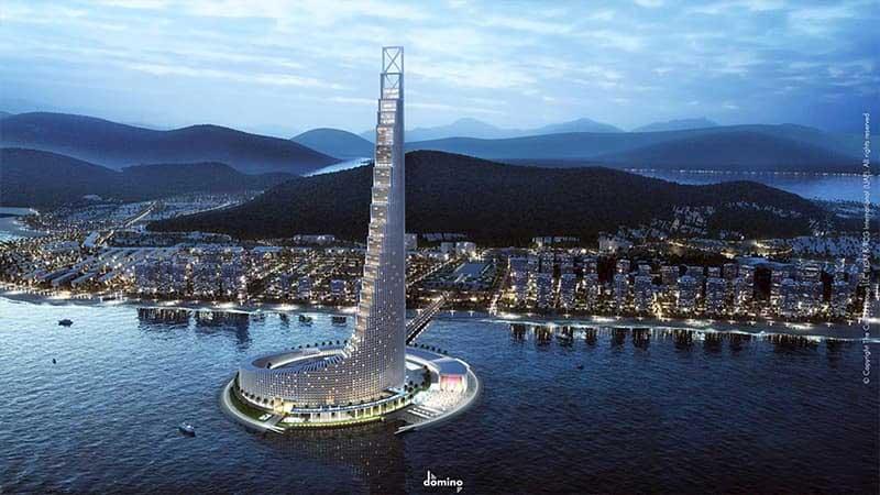 Tháp Domino Hạ Long - Biểu tượng mới của thành phố biển