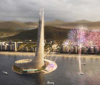 """Tháp Domino cao nhất Đông Nam Á, điểm """"check-in"""" mới tại Hạ Long"""