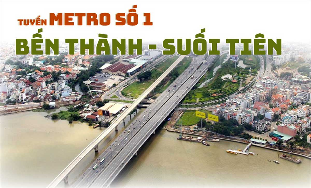 Hình ảnh của tuyến Metro số 1  Bến Thành - Suối Tiên